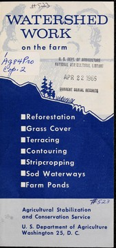 Cover of: Watershed work on the farm | United States. Department of Agriculture