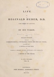 Cover of: The life of Reginald Heber