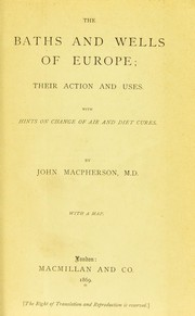 Cover of: The baths and wells of Europe