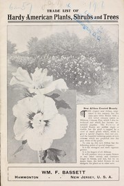Cover of: Trade list of hardy American plants, shrubs and trees | Wm. F. Bassett (Firm)