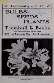 Cover of: Fall catalogue, 1905 | Trumbull & Beebe