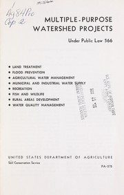 Cover of: Multiple-purpose watershed projects under Public law 566 | United States. Soil Conservation Service.