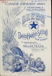 Cover of: Annual catalogue of vegetable field & flower seeds | David Hardie Seed Co