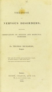 Cover of: A treatise on nervous disorders