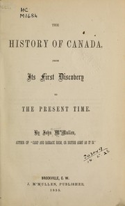 Cover of: The history of Canada | John Mercier McMullen
