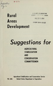 Cover of: Rural areas development | United States. Department of Agriculture