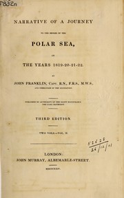 Cover of: Narrative of a journey to the shores of the Polar Sea