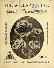 Cover of: Seeds and implements | W.E. Barrett Company
