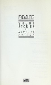 Cover of: Probabilities | Ninette Dutton