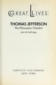 Cover of: Thomas Jefferson