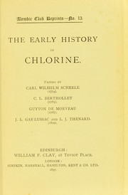 Cover of: The early history of chlorine