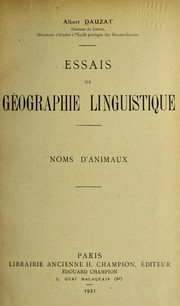 Cover of: Essais de ge ographie linguistique