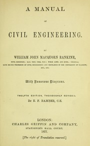 Cover of: A manual of civil engineering