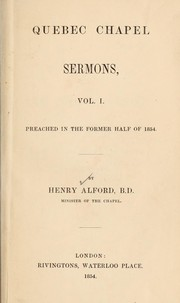 Cover of: Quebec Chapel sermons