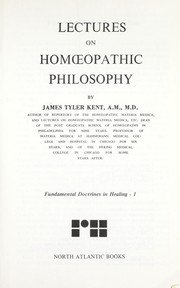Cover of: Lectures on homoeopathic philosophy