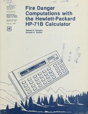 Cover of: Fire danger computations with the Hewlett-Packard HP-71B calculator