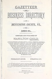 Cover of: Gazetteer and business directory of Bennington County, Vt. for 1880-81