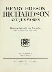 Cover of: Henry Hobson Richardson and his works