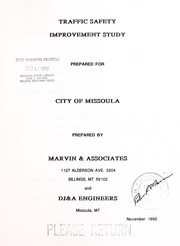 Cover of: Traffic safety improvement study | Marvin & Associates