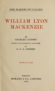 Cover of: William Lyon Mackenzie