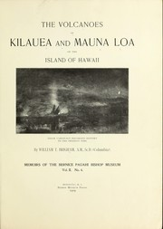 Cover of: The volcanoes of Kilauea and Mauna Loa on the island of Hawaii
