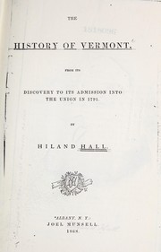 Cover of: The history of Vermont