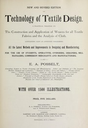 Cover of: Technology of textile design