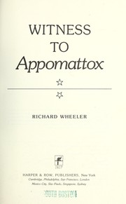 Cover of: Witness to Appomattox