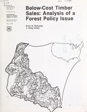 Cover of: Below-cost timber sales | Schuster, Ervin G.