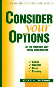 Cover of: Consider Your Options | Kaye A. Thomas