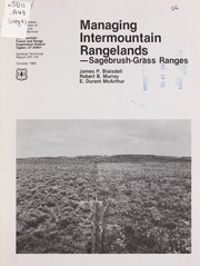Managing Intermountain rangelands by James Pershing Blaisdell