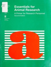 Cover of: Essentials for animal research | B. T. Bennett