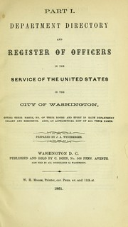 Cover of: Department and congressional directory
