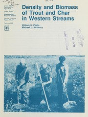Cover of: Density and biomass of trout and char in western streams