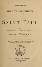 Cover of: The life and epistles of Saint Paul