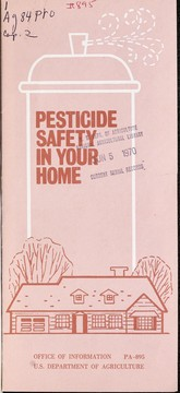 Cover of: Pesticide safety in your home