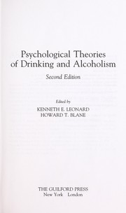Cover of: Psychological theories of drinking and alcoholism |