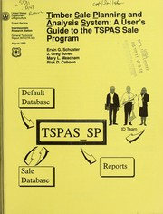 Cover of: Timber Sale Planning and Analysis System |