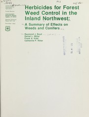 Cover of: Herbicides for forest weed control in the inland Northwest |