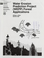 Cover of: Water erosion prediction project (WEPP) forest applications