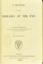 Cover of: A manual of diseases of the eye