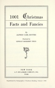 Cover of: 1001 Christmas facts and fancies