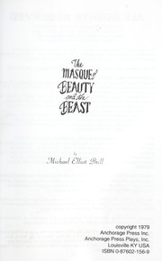 Cover of: The Masque of Beauty and the Beast