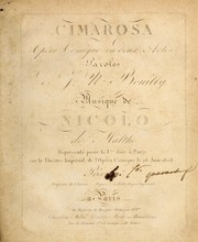 Cover of: Cimarosa