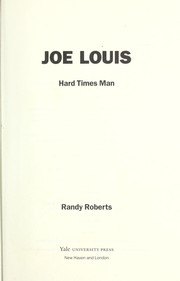 Cover of: Joe Louis