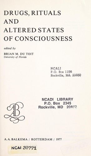 Drugs, rituals and altered states of consciousness (1977 edition