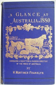 Cover of: A Glance at Australia  in 1880 |