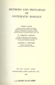 Cover of: Methods and principles of systematic zoology
