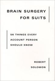 Cover of: Brain Surgery for Suits | Robert Solomon
