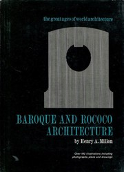 Baroque & rococo architecture by Henry A. Millon